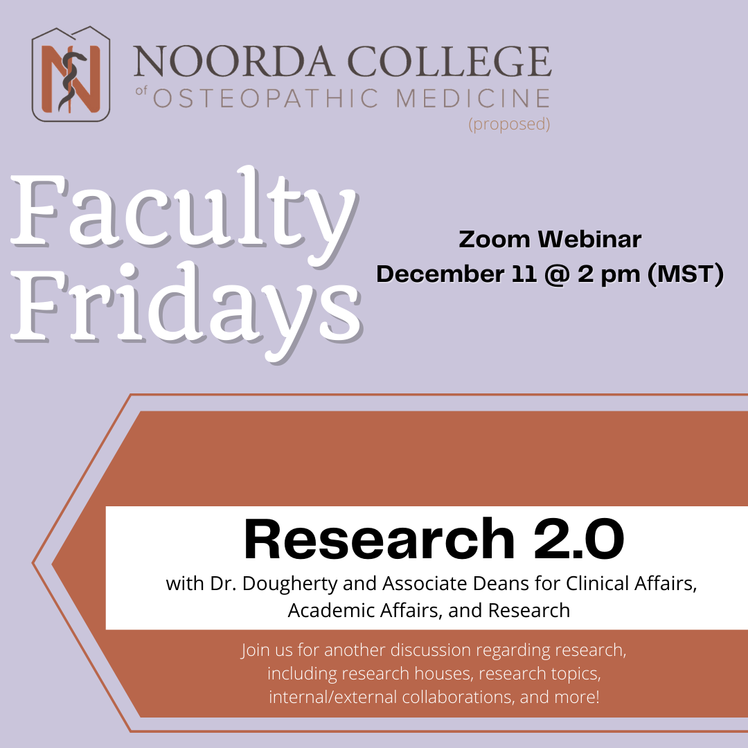 Faculty Friday 12/11/20